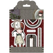 HOLLY Cling Rubber Stamp Set Gorjuss Urban Stamps from Docrafts