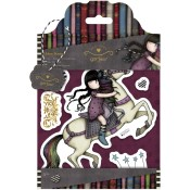 THE RUNAWAY Cling Rubber Stamp Set Gorjuss Urban Stamps from Docrafts