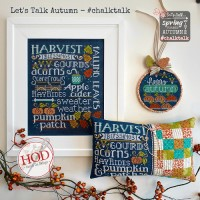 LET'S TALK AUTUMN Cross Stitch Pattern from Hands On Design