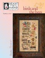 BIRDS AND THE BEES Counted Cross Stitch Pattern from Heart In Hand