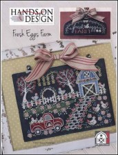 Chalk On the Farm Series - FRESH EGGS FARM Cross Stitch pattern from Hands On Design