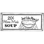 HOMEMADE SOUP Stickable Rubber Stamp from Great Impressions