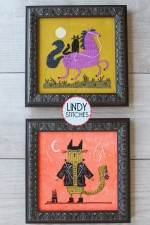 HALLOWEEN TAILS Cross Stitch Pattern by Lindy Stitches