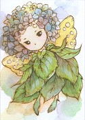 WHIMSICAL HYDRANGEA SPRITE Rubber Stamp Aurora Wings Mitzi Sato-Wiuff Collection from Sweet Pea Stamps