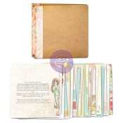 "BLOOM 3-RING BINDER ART JOURNAL 8""x8"" Bloom Girl Collection from Prima Marketing"