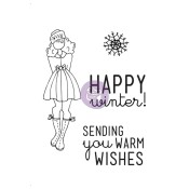 WARM WISHES Mixed Media Doll Cling Stamp Set Julie Nutting Collection from Prima Marketing