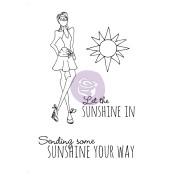 SUNSHINE Mixed Media Doll Cling Stamp Set Julie Nutting Collection from Prima Marketing