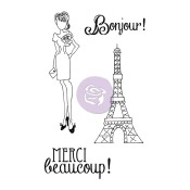 MERCI Mixed Media Doll Cling Stamp Set Julie Nutting Collection from Prima Marketing