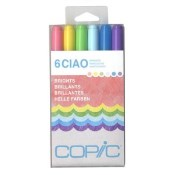 COPIC CIAO MARKER BRIGHTS - 6 Piece Set