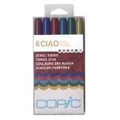 COPIC CIAO MARKER JEWEL TONES - 6 Piece Set