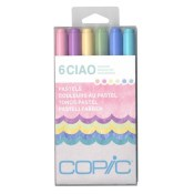 COPIC CIAO MARKER PASTELS - 6 Piece Set