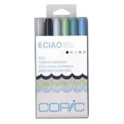 COPIC CIAO MARKER SEA - 6 Piece Set