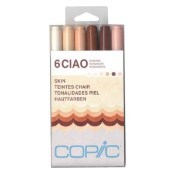 COPIC CIAO MARKER SKIN - 6 Piece Set