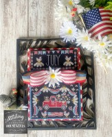 Truckin' Along A Year of Vintage Trucks Series JULY Cross Stitch Chart from Stitching With the Housewives