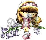BLUEBELL PENNY Rubber Stamp CandiBean Collection from Little Darlings Rubber Stamps