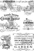 **REORDER** FRIENDS Rubber Stamp Set Vintage Affections Collection from Little Darlings Rubber Stamps LDRS