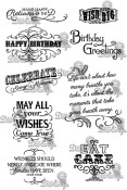 **REORDER** VINTAGE BIRTHDAY Rubber Stamp Set Vintage Affections Collection from Little Darlings Rubber Stamps LDRS