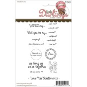 LOVE YOU SENTIMENTS Rubber Stamp Set Warm Fuzzies Sentiment Collection from Little Darlings Rubber Stamps