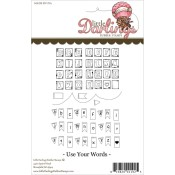 USE YOUR WORDS SENTIMENTS Rubber Stamp Set Warm Fuzzies Sentiment Collection from Little Darlings Rubber Stamps