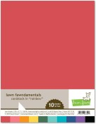 LAWN FAWNDAMENTALS RAINBOW 100 LB HEAVYWEIGHT CARDSTOCK Pkg of 10 Sheets by Lawn Fawn