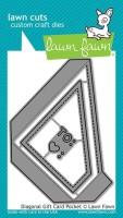 DIAGONAL GIFT CARD POCKET Lawn Cuts Custom Craft Dies from Lawn Fawn