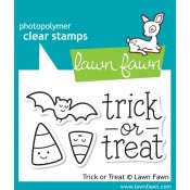 TRICK OR TREAT Clear Stamp Set from Lawn Fawn