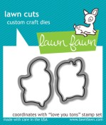 LOVE YOU TONS Lawn Cuts Custom Craft Dies from Lawn Fawn