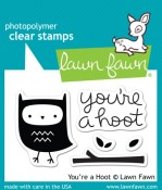 YOU'RE A HOOT Clear Stamp Set from Lawn Fawn