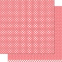 WILD ROSE POLKA 12x12 Scrapbook Paper from Lawn Fawn