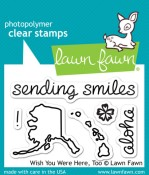 WISH YOU WERE HERE TOO Clear Stamp Set from Lawn Fawn