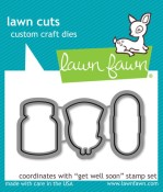 GET WELL SOON Lawn Cuts Custom Craft Dies from Lawn Fawn