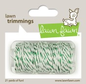 GREEN SPARKLE SINGLE CORD Hemp Twine from Lawn Fawn
