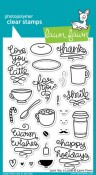 LOVE YOU A LATTE Clear Stamp Set from Lawn Fawn