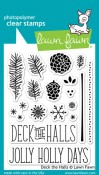 DECK THE HALLS Clear Stamp Set from Lawn Fawn