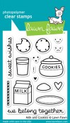 MILK & COOKIES Clear Stamp Set from Lawn Fawn