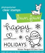 WINTER PENGUIN Clear Stamp Set from Lawn Fawn