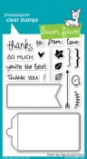 THANK YOU TAGS Clear Stamp Set from Lawn Fawn