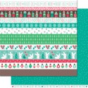 CHUNKY SCARF 12x12 Double Sided Scrapbook Paper Snow Day Collection from Lawn Fawn