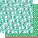 MITTENS 12x12 Double Sided Scrapbook Paper Snow Day Collection from Lawn Fawn