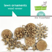 SNOWFLAKE WOOD VENEER  from Lawn Fawn