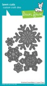 STITCHED SNOWFLAKES Lawn Cuts Custom Craft Dies from Lawn Fawn