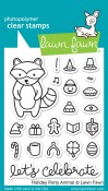 HOLIDAY PARTY ANIMAL Clear Stamp Set from Lawn Fawn