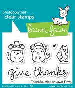 THANKFUL MICE Clear Stamp Set from Lawn Fawn