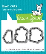 THANKFUL MICE Lawn Cuts Die from Lawn Fawn