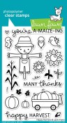 HAPPY HARVEST Clear Stamp Set from Lawn Fawn