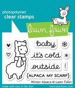 WINTER ALPACA Clear Stamp Set from Lawn Fawn