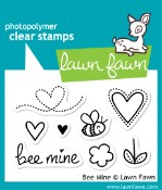 BEE MINE Clear Stamp Set from Lawn Fawn Stamps