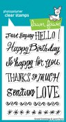 GRAND GREETINGS Clear Stamp Set from Lawn Fawn