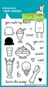 HERE'S THE SCOOP Clear Stamp Set from Lawn Fawn