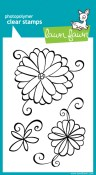 JUDY'S BLOOMS Clear Stamp Set from Lawn Fawn